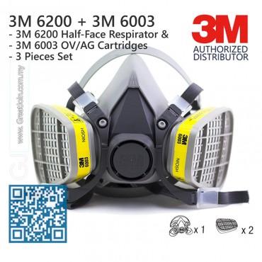 Mặt nạ phòng độc chuyên dụng 3M Mỹ 6200