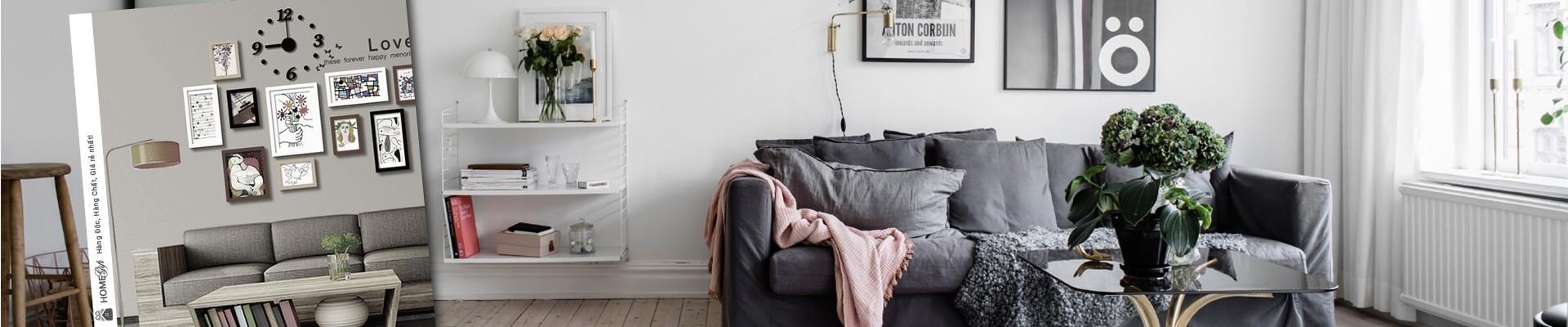 Các sản phẩm decor trang trí phòng khách đẹp và siêu độc đáo