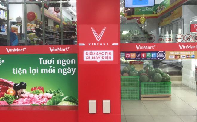 Điểm sạc xe máy điện VinFast tại các siêu thị Vinmark