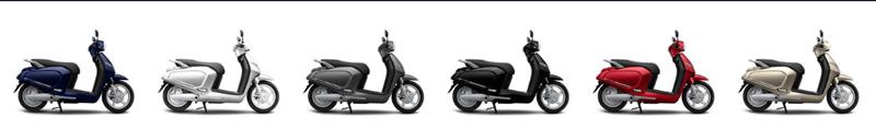 Xe điện Vinfast Klara 7 màu sắc: Trắng, đen, Ghi sần, vàng cát, đỏ, xanh,