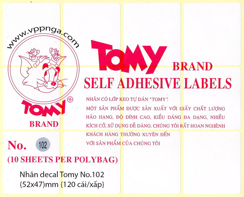 Form giấy Decal Tomy A4