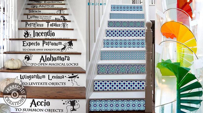 Trang trí cầu thang sáng tạo và đầy màu sắc