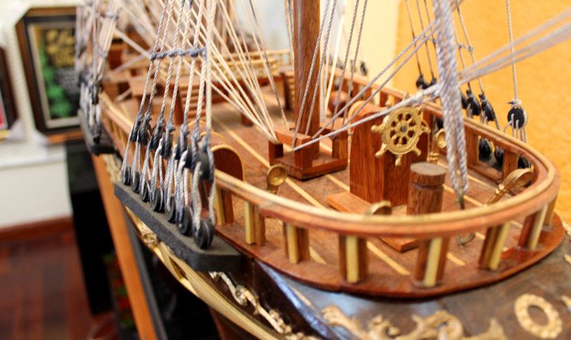 Mô-hình-thuyền-buồm-gỗ-cao cấp chế tạo tinh xảo và chi tiết như thật