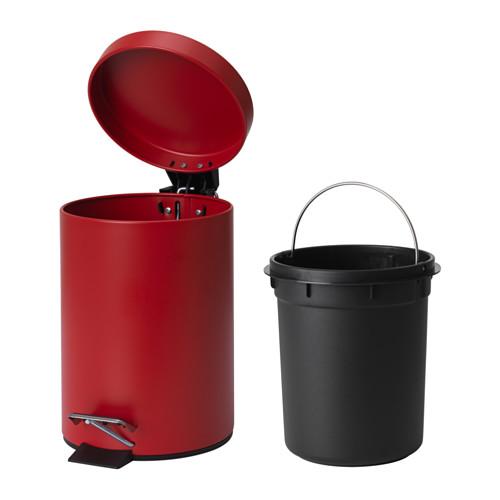 Thùng rác mini Ikea Vorgod 3L đỏ
