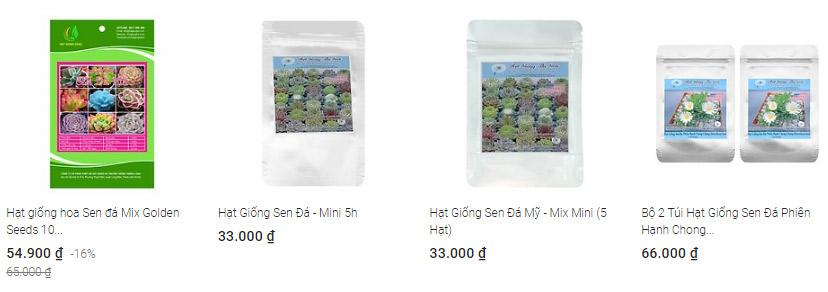 Mua hạt giống sen đá giá rẻ nhất tại Tiki