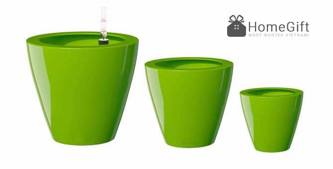 Chậu trồng hoa thông minh bằng vật liệu composit