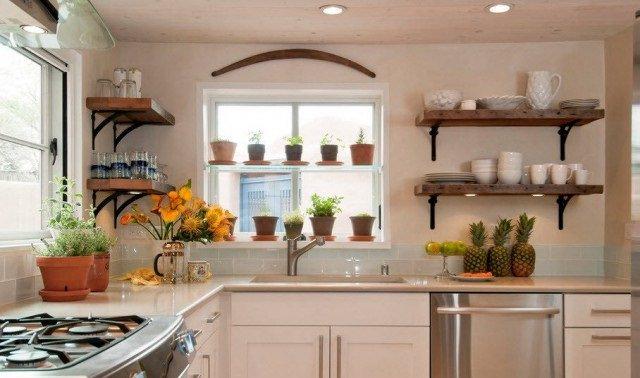 Trồng một số loại thảo mộc ngay cửa sổ nhà bếp