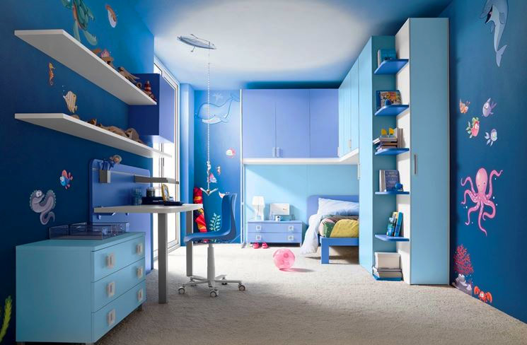 Phòng ngủ nhỏ xinh xắn cho những cô cậu bé mê biển
