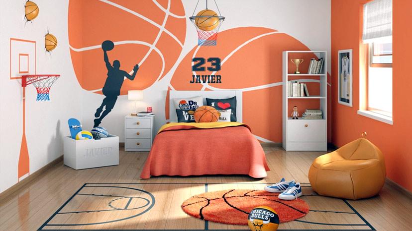 Căn phòng của một cậu bé mê bóng rổ