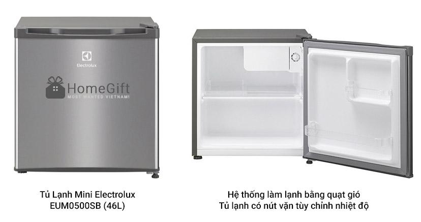 Tủ Lạnh Mini Electrolux EUM0500SB (46L)