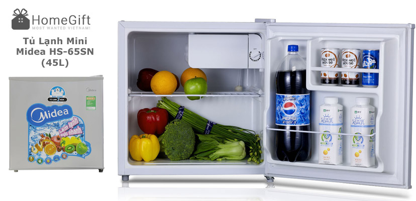 Tủ Lạnh Mini Midea HS-65SN (45L) - Trắng