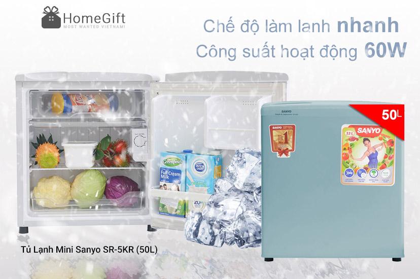 Tủ Lạnh Mini Sanyo SR-5KR (50L)