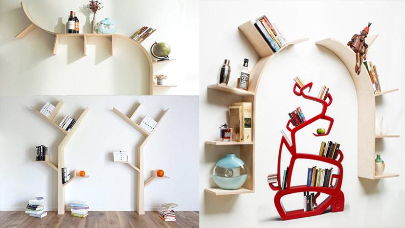 Đa dạng và sáng tạo với các kiểu kệ sách hình nhánh cây