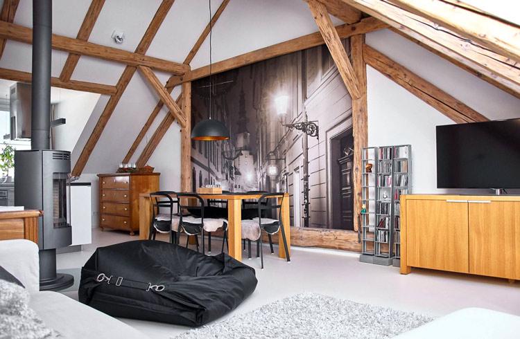Hóa giải các góc chết bất lợi trong phong thủy của phòng áp mái bằng decor nội thất