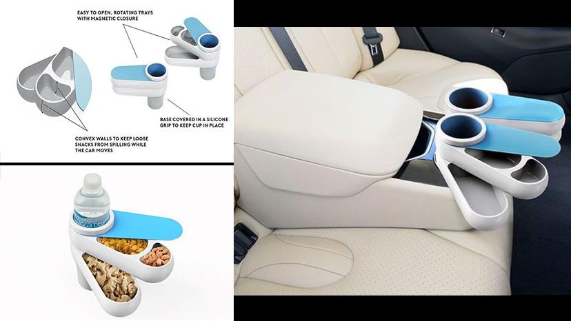 món quà cực kỳ ý nghĩa - khay đựng đồ ăn vặt trên xe hơi thông minh