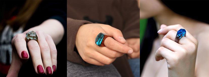 Nhẫn resin gỗ - Vẻ mộc mạc nhưng vẫn sang trọng quý phái độc nhất vô nhị