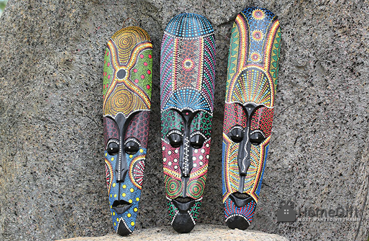 Mặt-nạ-gỗ-thổ-dân-indonesia-làm-thủ-công