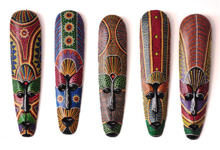 Mặt-nạ-thổ-dân-chiến-binh-châu-phi-làm-bằng-gỗ-thủ-công-African-mask-Pure-manual-painting-Mango-wood-real-wood
