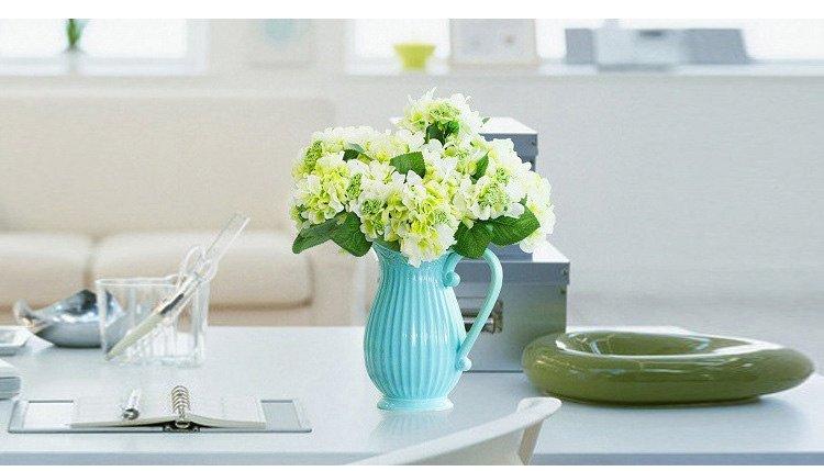 Bình hoa sứ đẹp có tay cầm kiểu cổ điển Châu Âu