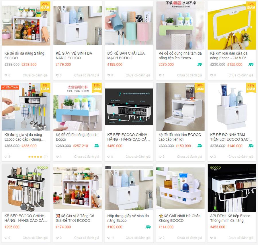 Các loại tủ kệ nhà tắm và bếp của Ecoco