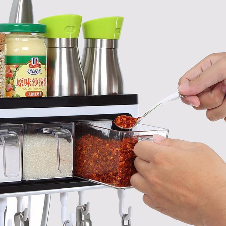 Kệ treo, đựng gia vị nhà bếp thông minh, tiện lợi Ecoco