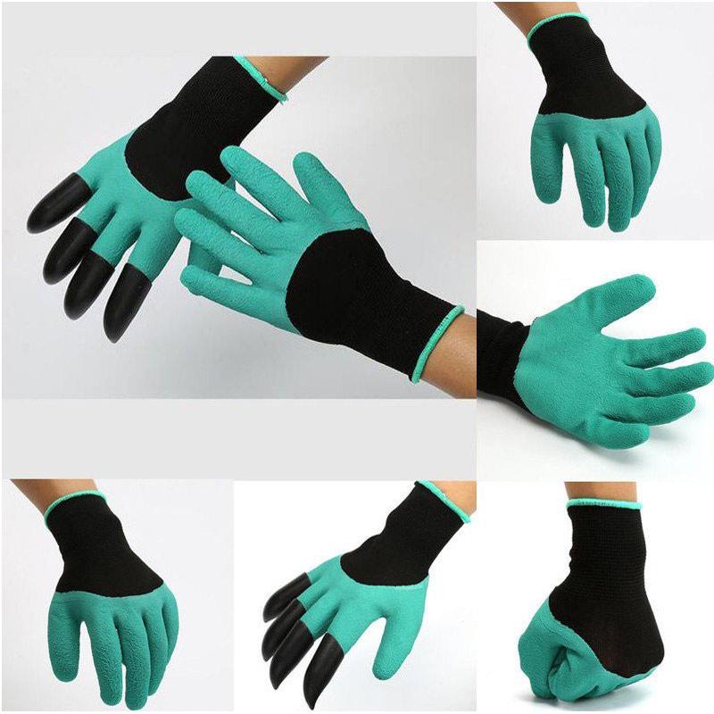 Găng tay làm vườn chuyên dụng có móng bằng cao su và nhựa ABS