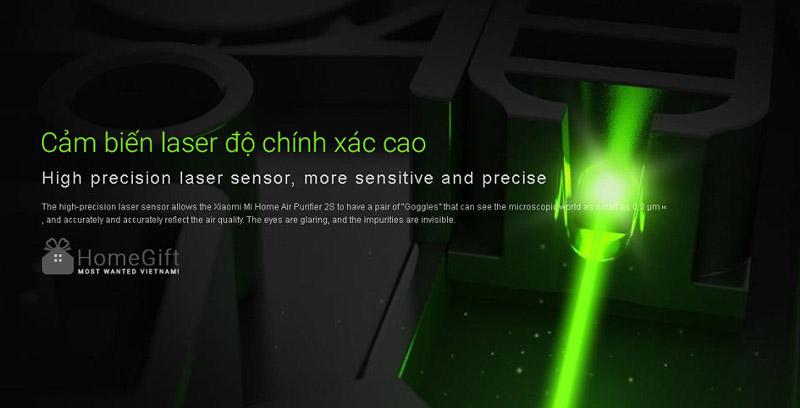 Cảm biến laser độ nhạy và chính xác rất cao