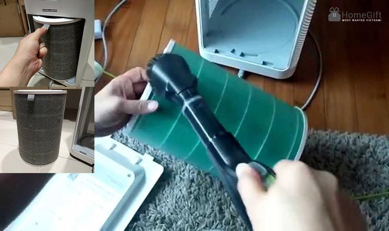Vệ sinh tài sử dụng bộ lọc cho máy lọc không khí xiaomi