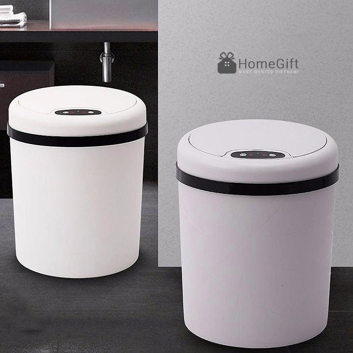 Thùng rác thông minh với thiết kế sang trọng và hoạt động bằng cảm ứng tự động hiện đại