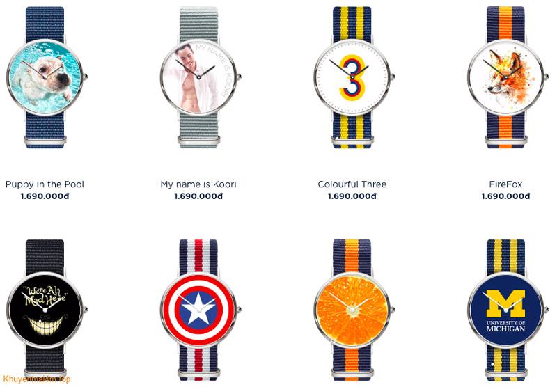 Đồng hồ tự thiết kế hàng hiệu Dyoss Watch phong cách siêu cá tính