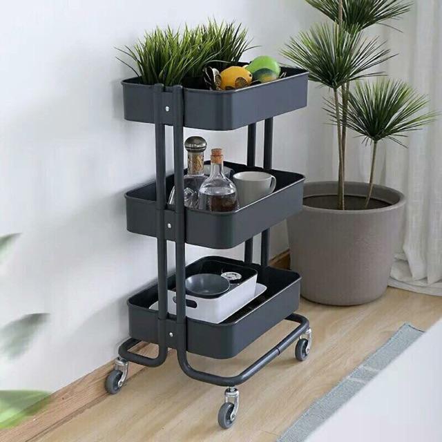 Kệ đựng đồ Ikea 3 tầng có bánh xe cao cấp Ikea, màu sắc thời trang bắt mắt phù hợp mọi không gian nội thất.