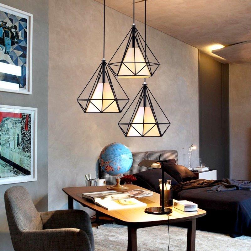 Đèn thả trần kim cương trang trí nội thất