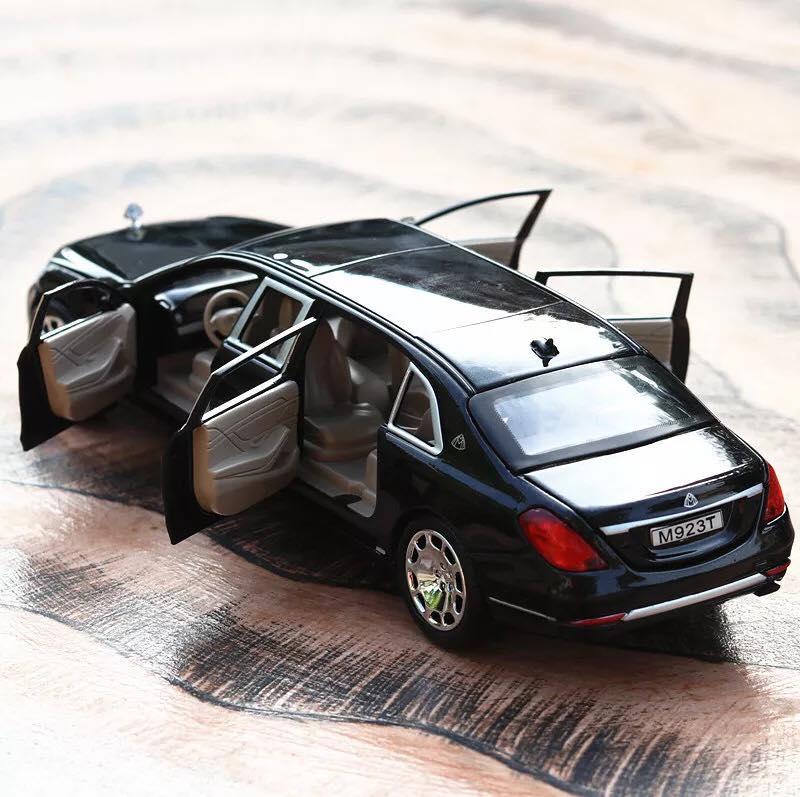 Ô tô mô hình bằng sắt Mercedes S600 Maybach