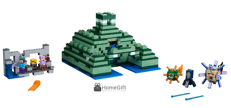 do choi Lego Mykingdom minecraft 21136