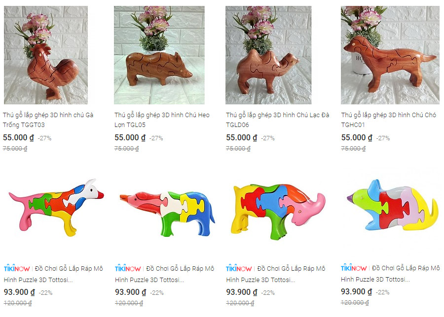 Tham khảo thêm các bộ đồ chơi hình thú lắp ghép 3D độc đáo trên Tiki