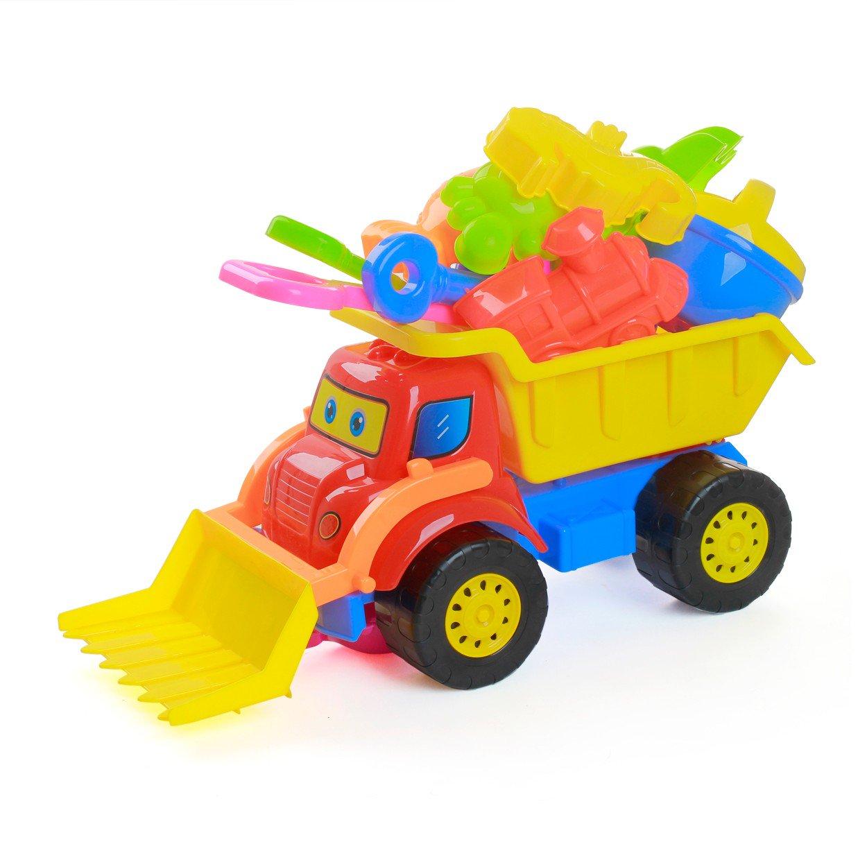 Bộ đồ chơi xe xúc cát trẻ em