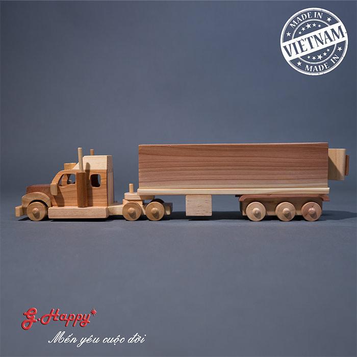 Đồ chơi gỗ G.Happy Xe container Việt Nam Xuất khẩu