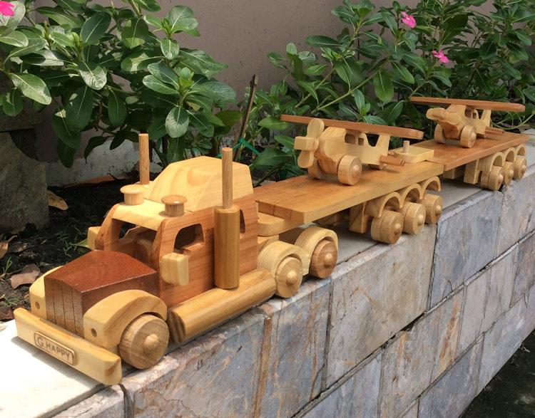 Đồ chơi mô hình lắp ráp bằng gỗ thông minh G-Happy