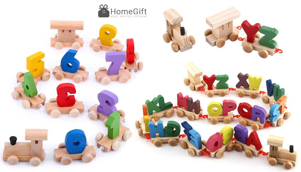 Đoàn tàu chở chữ và số là một dạng đồ chơi hết sức sáng tạo.