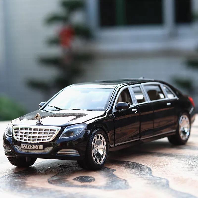 Ô tô mô hình bằng sắt Mercedes-Benz S600 Maybach