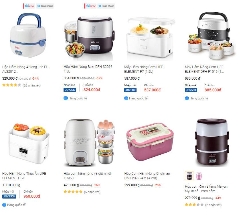 Các loại hộp nấu cơm thông minh bằng điện tốt nhất bán chạy nhất trên Tiki!