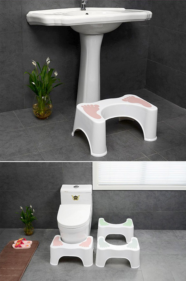 ghế để chân đi toilet cho trẻ em và người lớn