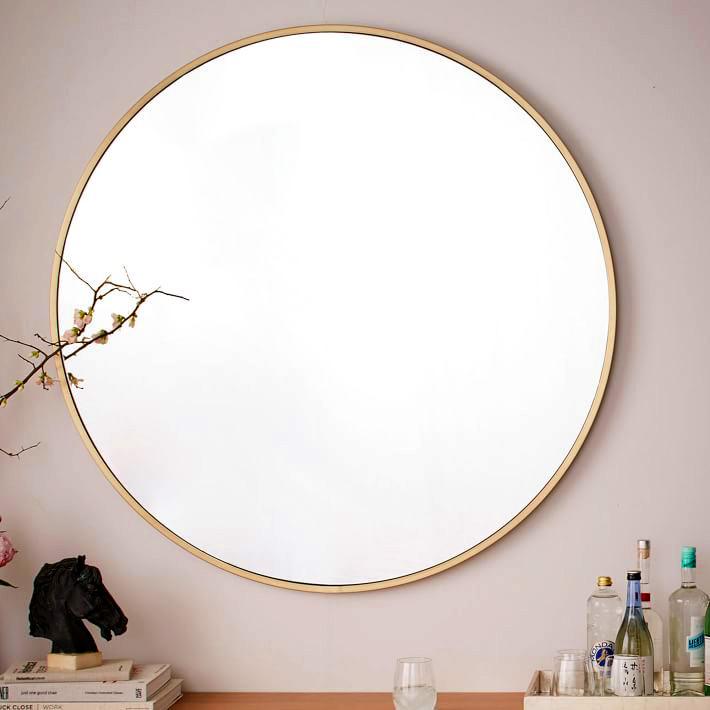 Gương-tròn-decor-treo-tường-phô gỗ hiện đại và thời trang