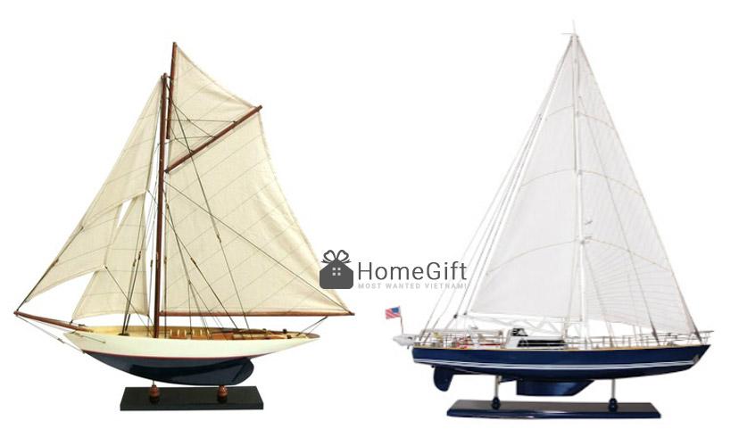 Mô hình du thuyền bằng gỗ kiểu hiện đại
