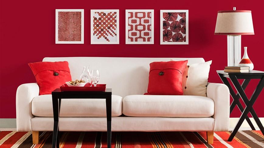 Trang trí phòng khách hiện đại - Những mảng màu decor biết nói